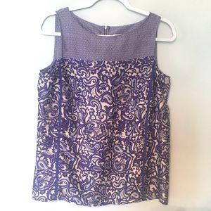 LOFT Purple Sleeveless Top Size S